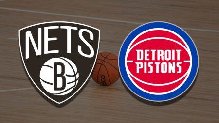 Apostas Brooklyn Nets x Detroit Pistons NBA 13/03/21