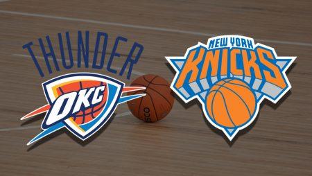 Apostas Oklahoma City Thunder x New York Knicks NBA 13/03/21