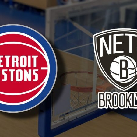 Apostas Detroit Pistons x Brooklyn Nets NBA 26/03/21