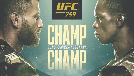 Apostas UFC 259 Blachowicz x Adesanya 06/03/21