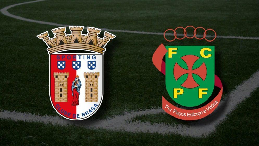 Apostas Braga x Paços de Ferreira Liga NOS 05/05/21