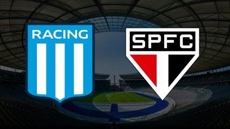 Apostas Racing x São Paulo Libertadores da América 05/05/21