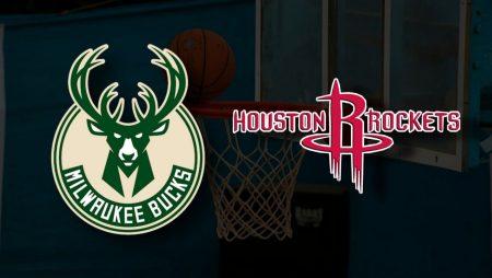Apostas Milwaukee Bucks x Houston Rockets NBA 07/05/21