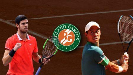 Apostas Karen Khachanov x Kei Nishikori Roland Garros 02/06/21