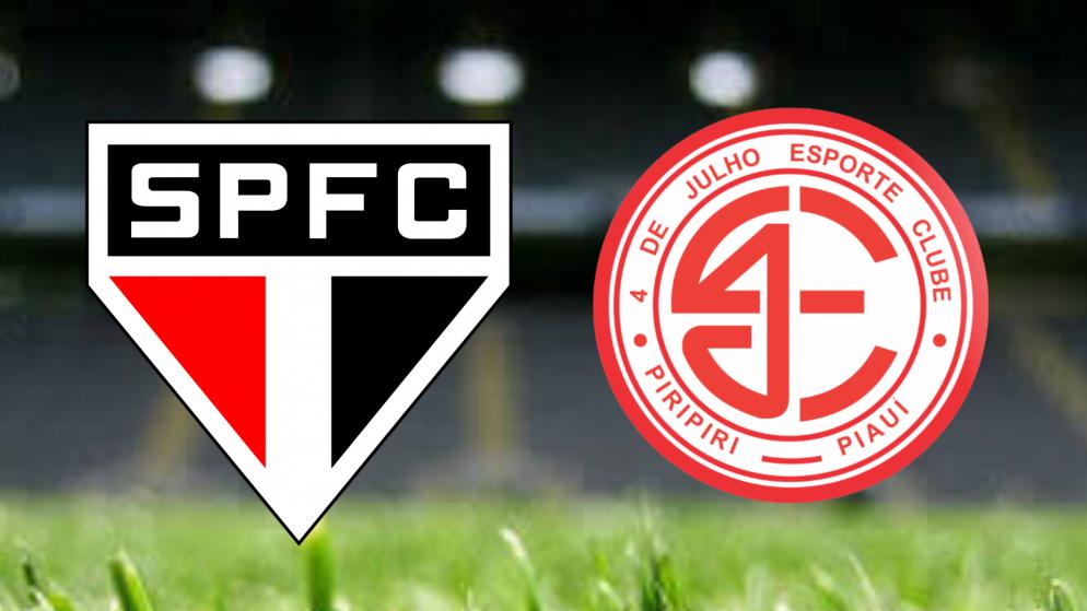 Apostas São Paulo x 4 de Julho Copa do Brasil 08/06/21