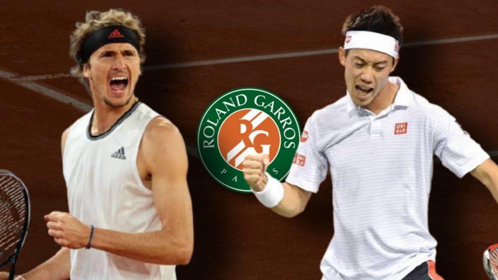 Apostas Alexander Zverev x Kei Nishikori Roland Garros 06/06/21