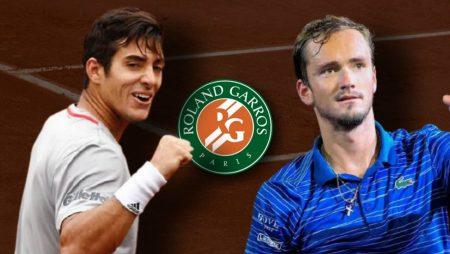 Apostas Cristian Garín x Daniil Medvedev Roland Garros 06/06/21