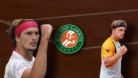 Apostas Alexander Zverev x Alejandro Davidovich Fokina Roland Garros 08/06/21