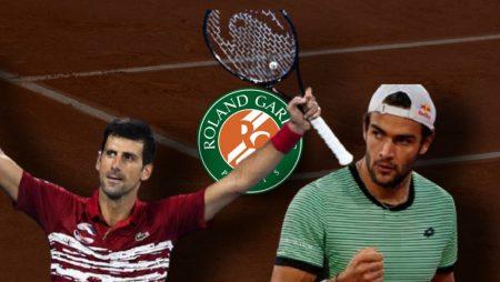 Apostas Novak Djokovic x Matteo Berrettini Roland Garros 08/06/21