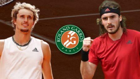 Apostas Alexander Zverev x Stefanos Tsitsipas Roland Garros 11/06/21