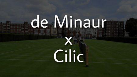 Apostas Alex de Minaur x Marin Cilic ATP de Queen's 18/06/21