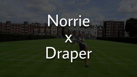 Apostas Cameron Norrie x Jack Draper ATP de Queen's 18/06/21