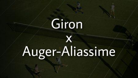 Apostas Marcos Giron x Felix Auger-Aliassime ATP de Halle 18/06/21