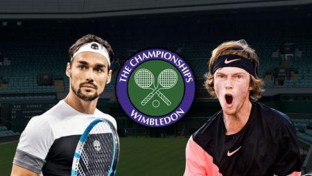Apostas Fabio Fognini x Andrey Rublev Wimbledon 02/07/21