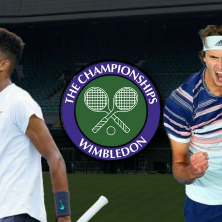 Apostas Felix Auger-Aliassime x Alexander Zverev Wimbledon 05/07/21