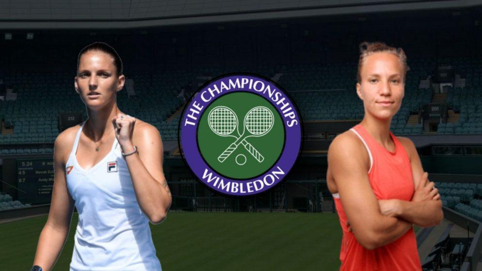 Apostas Karolína Plísková x Viktorija Golubic Wimbledon 06/07/21