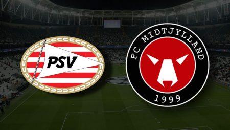 Apostas PSV Eindhoven x FC Midtjylland Liga dos Campeões 03/08/21