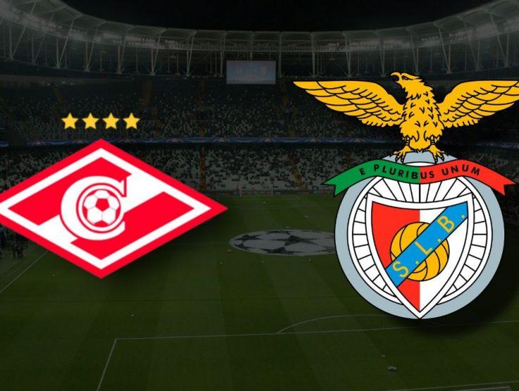 Apostas Spartak Moscou x Benfica Liga dos Campeões 04/08/21