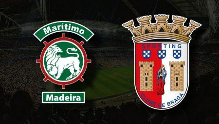 Apostas Marítimo x Braga Primeira Liga 07/08/21