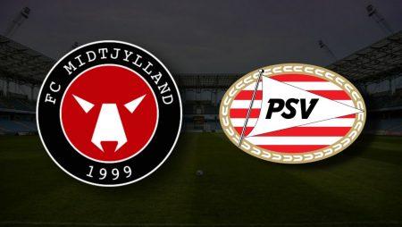 Apostas FC Midtjylland x PSV Eindhoven Eliminatórias Liga dos Campeões 10/08/21