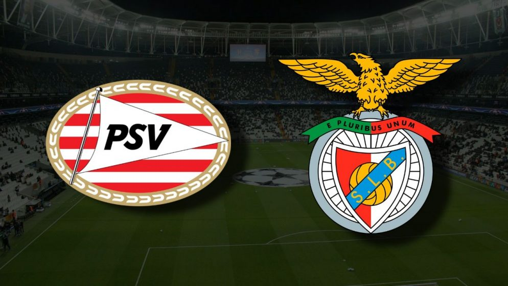 Apostas PSV Eindhoven x Benfica Eliminatórias Liga dos Campeões 24/08/21