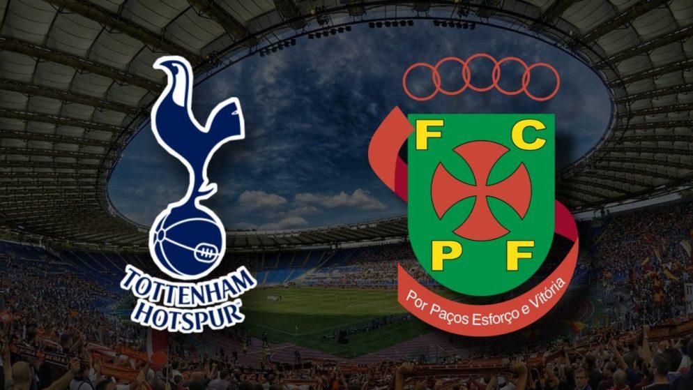 Apostas Tottenham x Paços de Ferreira Eliminatórias Conference League 26/08/21