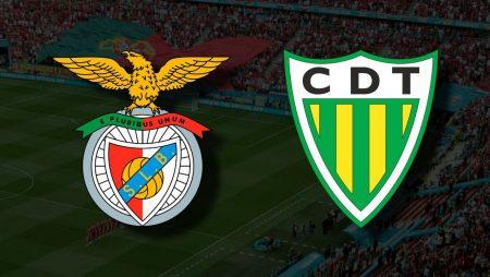Apostas Benfica x Tondela Primeira Liga 29/08/21