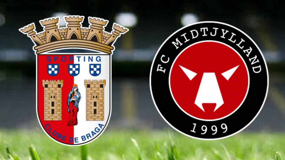 Apostas Braga x Midtjylland Liga Europa 30/09/21