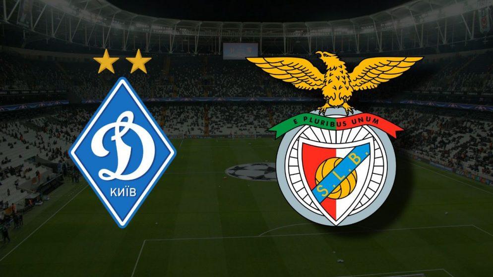Apostas Dínamo de Kiev x Benfica Liga dos Campeões 14/09/21