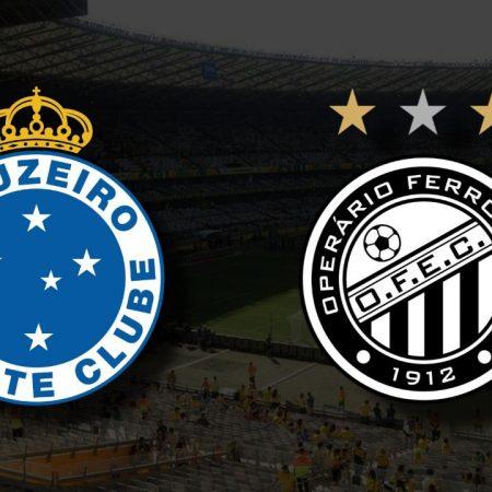 Apostas Cruzeiro x Operário Ferroviário Brasileiro Série B 16/09/21