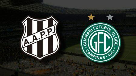 Apostas Ponte Preta x Guarani Brasileirão Série B 17/09/21