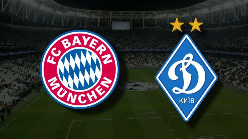 Apostas Bayern de Munique x Dínamo de Kiev Liga dos Campeões 29/09/21