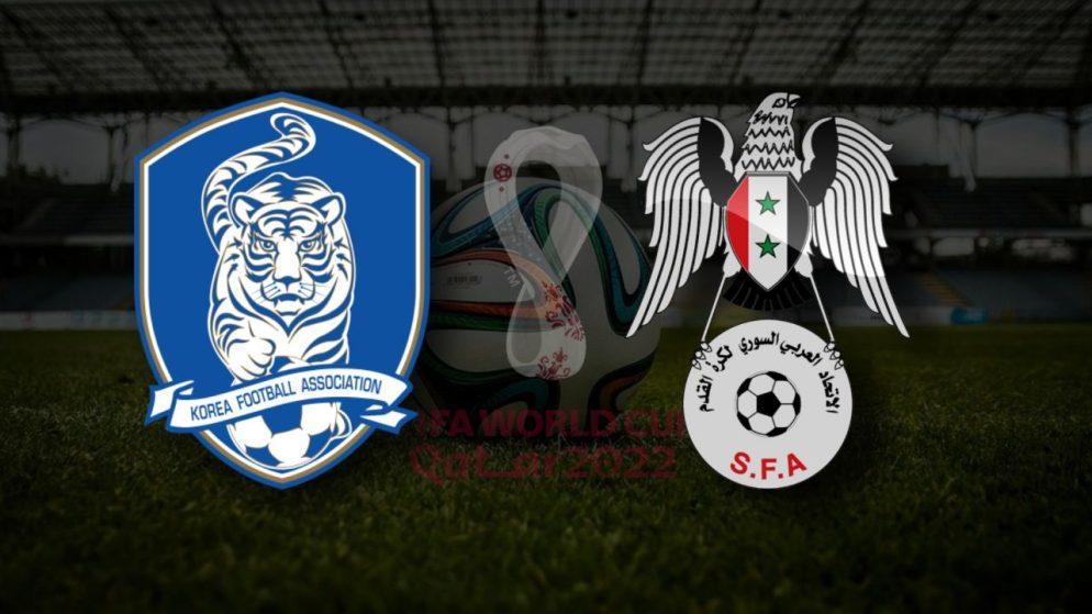 Apostas Coréia do Sul x Síria Eliminatórias Copa do Mundo 07/10/21
